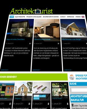 Alexandra Goebel (Kontaktraum) und ich haben uns bei Architektourist.de unserem gemeinsamen Interesse an aktueller Architektur gewidment. Architektourist ist ein Blog, bei dem man sich täglich auf Entdeckungsreise durch unsere bebaute Umwelt begeben kann.  http://www.architektourist.de